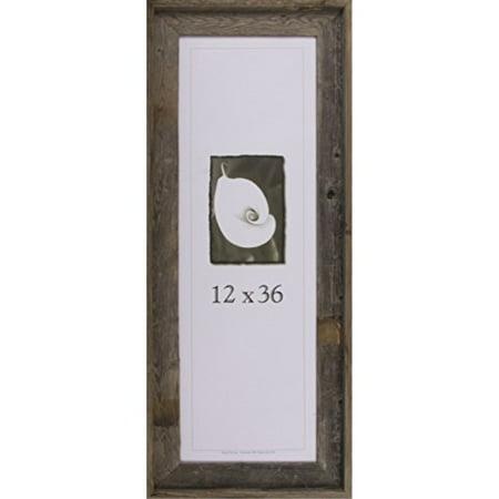 "12x36 Picture Frames - Barnwood Frames - Barnwood Signature Series 2 7/8"" Profile"