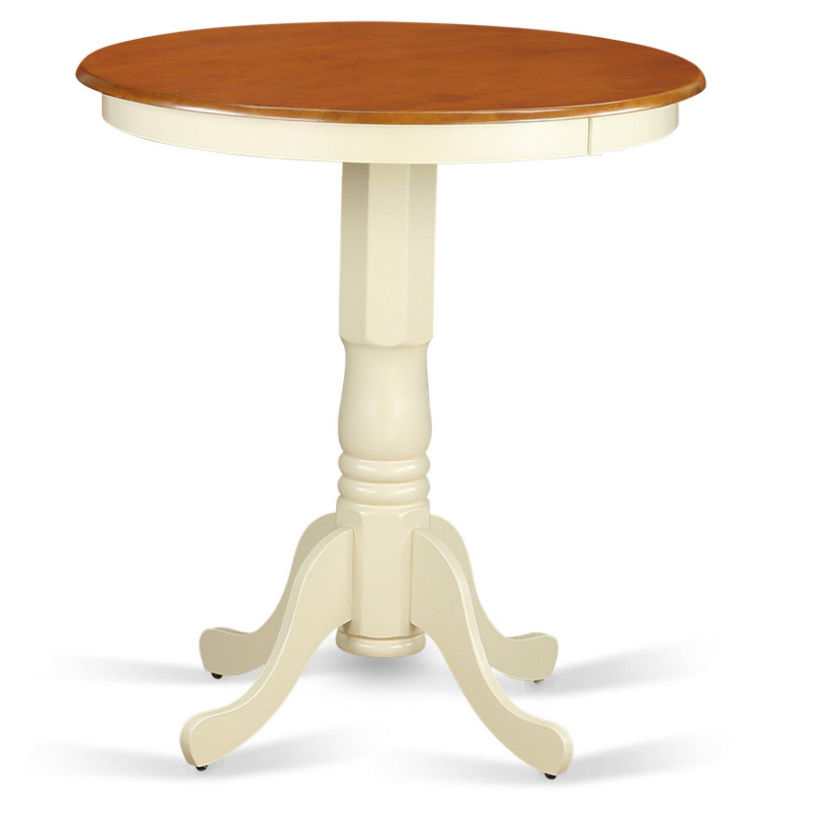 East West Furniture Eden Pedestal 30 Inch Round Counter Height