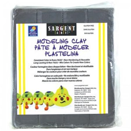 Sargent Art SAR224084BN 1 lbs Modeling Clay Plastic Gray Box - 12 Each - image 1 of 1