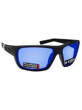8cf0418351 Product Image Under Armour 8630098-010168 launch black rubber frame  polarized blue mirror lens