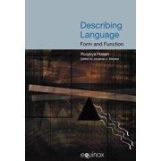 Describing Language : Form and Function