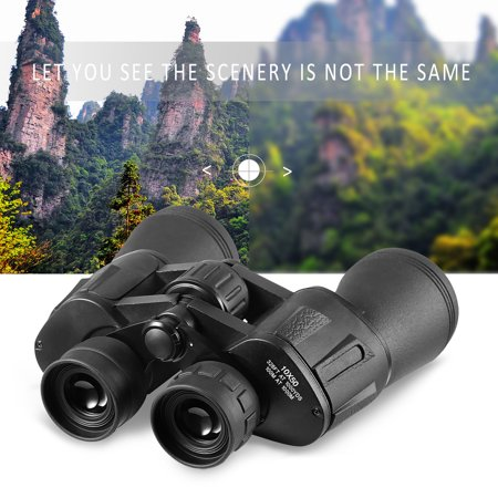 Portable HD Binoculars Night Vision,10X50 10KM Wide Angle Binoculars Waterproof Handheld Outdoor Clear Optical Telescope For Outdoor Traveling,Bird Watching,Great