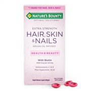 Nature's Bounty Hair Skin and Nail Vitamins With Biotin, Softgels, 150 Ct