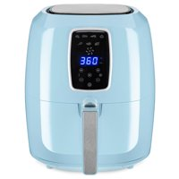 Best Choice Products 5.5qt 7-in-1 Digital Family Sized Air Fryer Kitchen Appliance w/ LCD Screen and Non-Stick Fryer Basket, Baby Blue