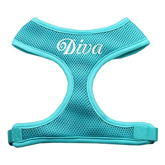 Diva Design Soft Mesh Harnesses Aqua Medium
