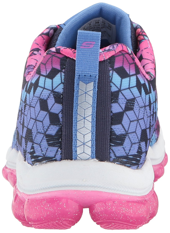 Skechers Kids Girls' Skech-Air-Fade N'Fly Sneaker, Navy/Hot Pink, 11 M US Little Kid