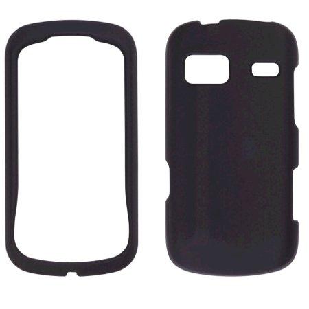 Sprint  Soft Touch Snap-On Case for LG Rumor Reflex LN272 - Black