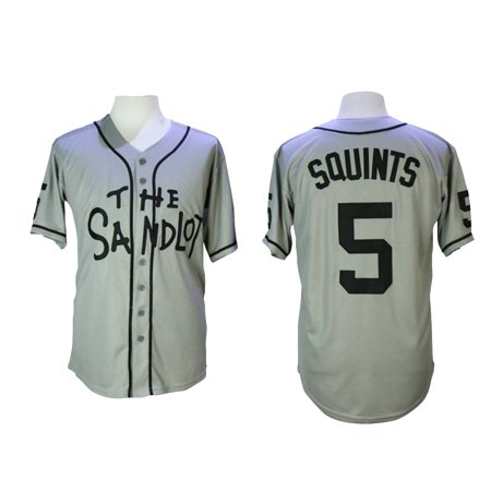 Squints 5 The Sandlot Baseball Jersey Michael Palledorous Costume Movie Uniform