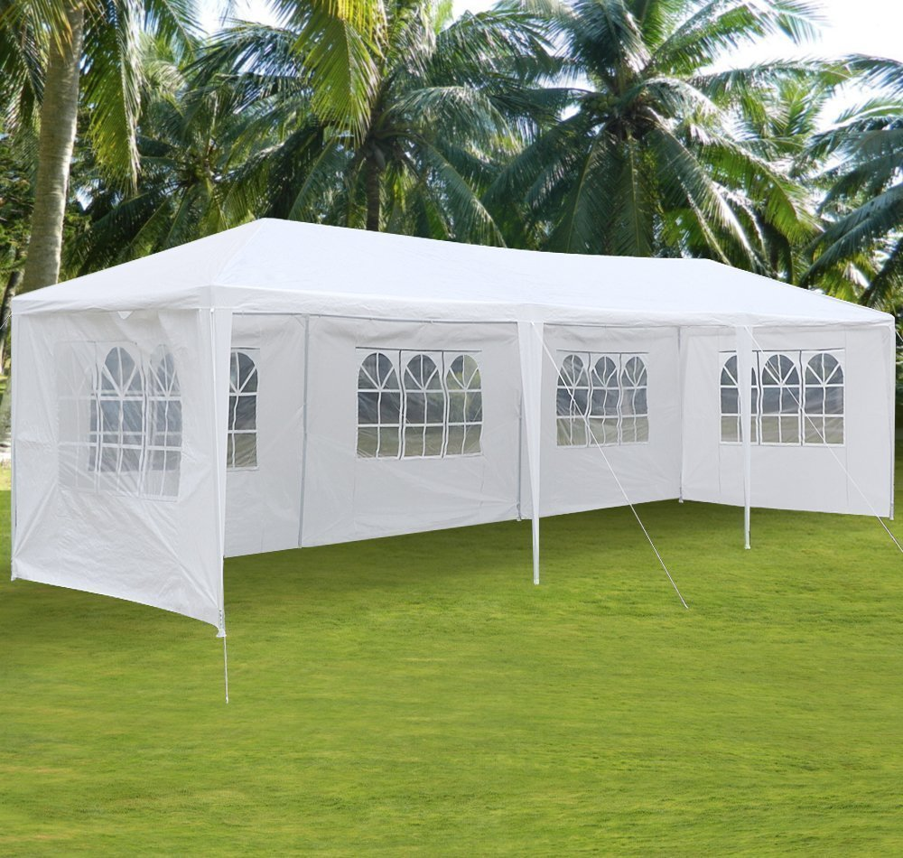 Ktaxon 10'x30' Party Wedding Outdoor Patio Tent Canopy Heavy Duty Gazebo Pavilion Event with 5 Wall by
