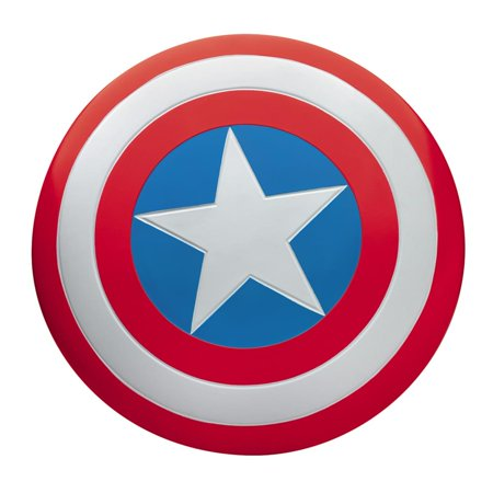 Captain America Deluxe Adult Halloween Metal Shield (Halloween Party Decor Adults)