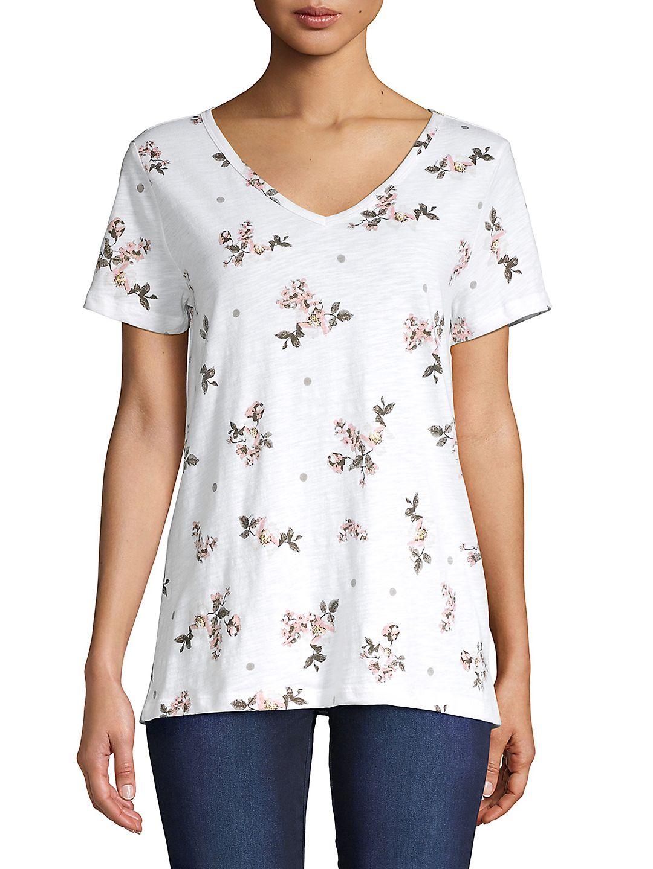 Floral-Print Cotton Top