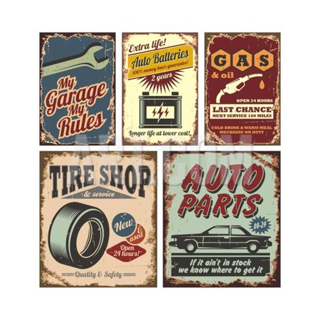 Vintage Car Paint (Vintage Car Metal Signs And Posters Print Wall Art By Lukeruk )