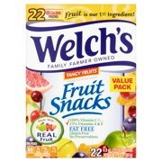 Welch's® Tangy Fruits Fruit Snacks 22-0.9 oz. Pouches