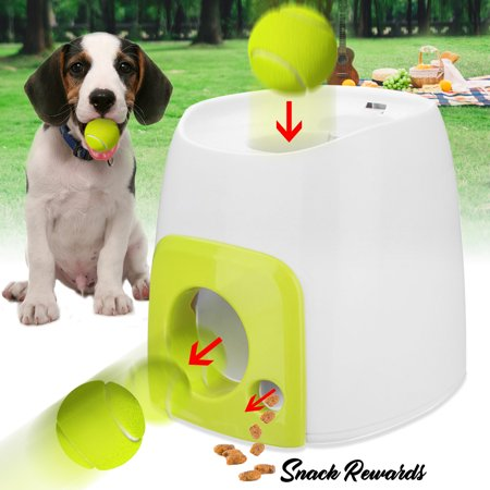 Dog Training Toy, Automatic Tennis Ball Roll Out Get Snack Rewards with Ball