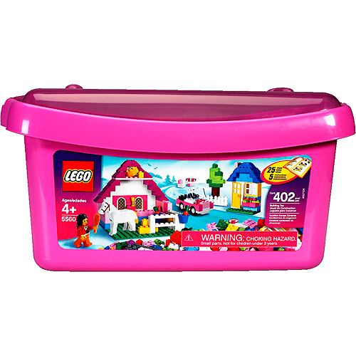 LEGO Bricks & More- Pink Brick Box, Large
