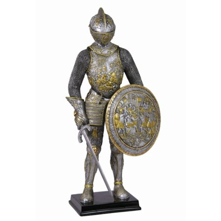 13 Inch Medieval Armor - Parade Armor with Sword and Shield - Custom Medieval Shield