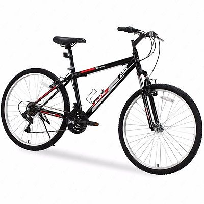"26"" Mountain Bike 18 Speed Bicycle Shimano Hybrid Black Red School College Sport by Uenjoy"