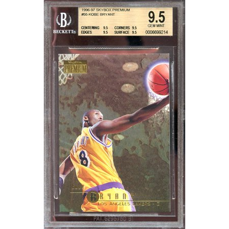 1996 97 Skybox Premium  55 Kobe Bryant Lakers Rookie Bgs 9 5  9 5 9 5 9 5 9 5