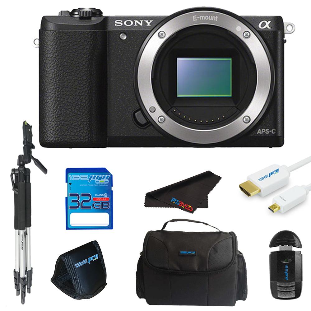 Sony Alpha a6000 Mirrorless Digital Camera Body (Black) + Pixi Essentials Bundle