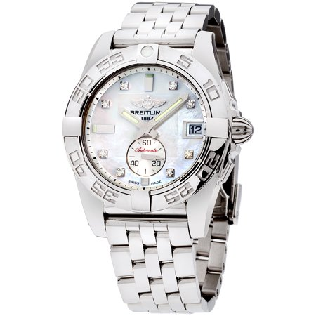 Breitling Mother Of Pearl Dial Stainless Steel Ladies Watch A3733012/A717/376A