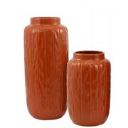 The Import Collection 18-320 Pumpkin Vase, Set of 2