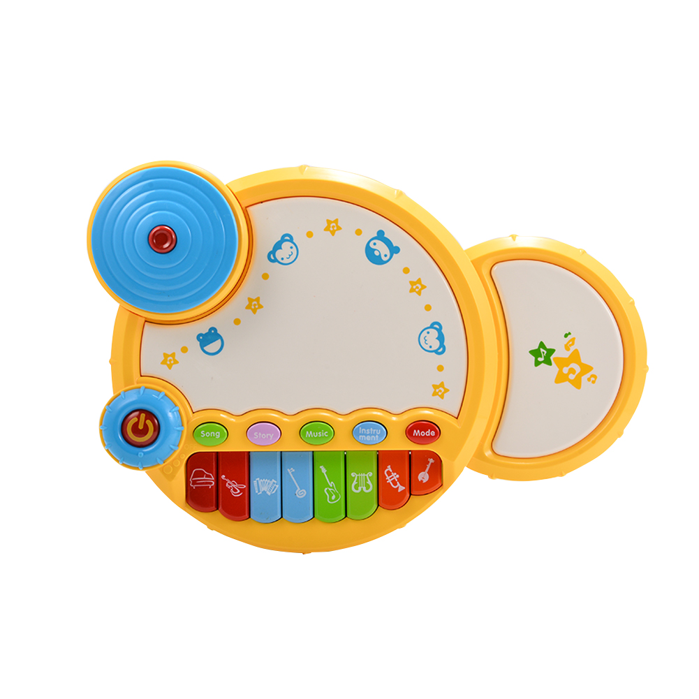 Baby Learning Musical Drum Toy with Light for Baby Early Development by