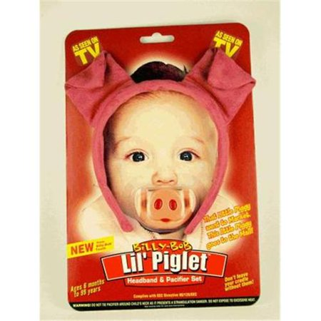 Lil Piglet Headband & Pacifier 2pc Costume Accessory Set, Pink, One Size - Halloween Pacifiers