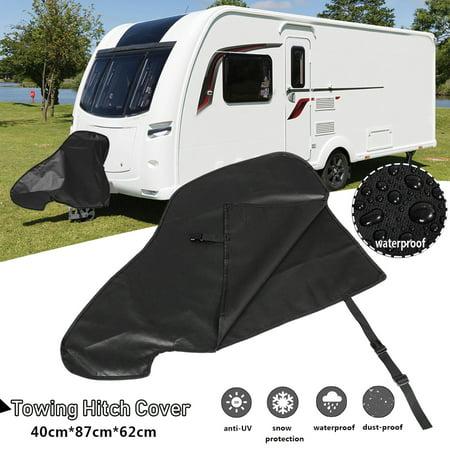 Waterproof Caravan Hitch Cover PVC Trailer Tow Ball Coupling Lock Breathable Dust Rain Snow Dustproof