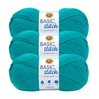 Lion Brand Yarn Basic Stitch Premium Tourmaline Premium Medium Acrylic Green Yarn 3 Pack