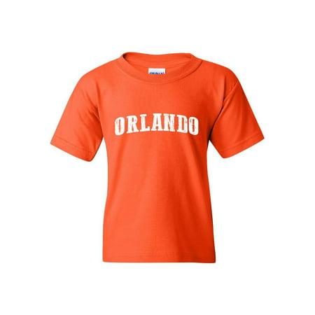 Orlando Florida Unisex Youth Shirts T-Shirt Tee (Best Weather Time In Orlando Florida)