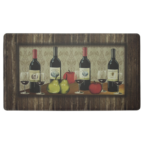 Chef Gear Sophisticated Wine with Border Anti-Fatigue Gelness Comfort Chef Mat