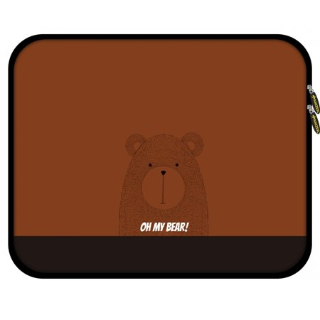 11.25 Inch High Quality Designer Neoprene Sleeve for Notebook, Chromebook, MacBook 2017, Fire HD 10, Tablet, iPad with 5 Pcs Screen Cleaning Kit and Headset Organizer - (Sb1 Sharpshooter Bear Kit)