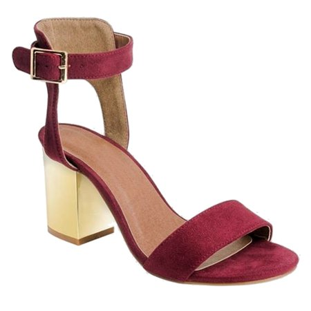 Women's High Ankle Cuff One-Band Block Heel Sandal (FREE (Ankle Cuff Sandal)