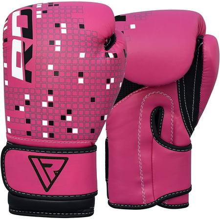 RDX Maya Hide Leather 4oz Kids Boxing Gloves Junior Punch Bag MMA Training Muay Thai Mitts