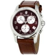 Victorinox Women's Swiss Army 241420 Brown Leather Chronograph Fashion Watch