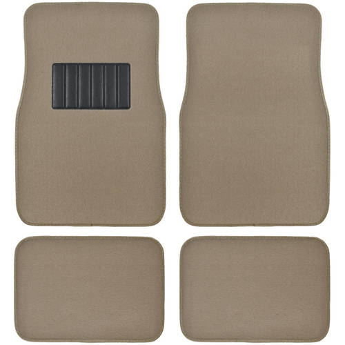 BDK Carpeted Floor Mats 4-Piece Mat with Vinyl Heel Pad for Car, SUV, Van and Truck, Universal Fit