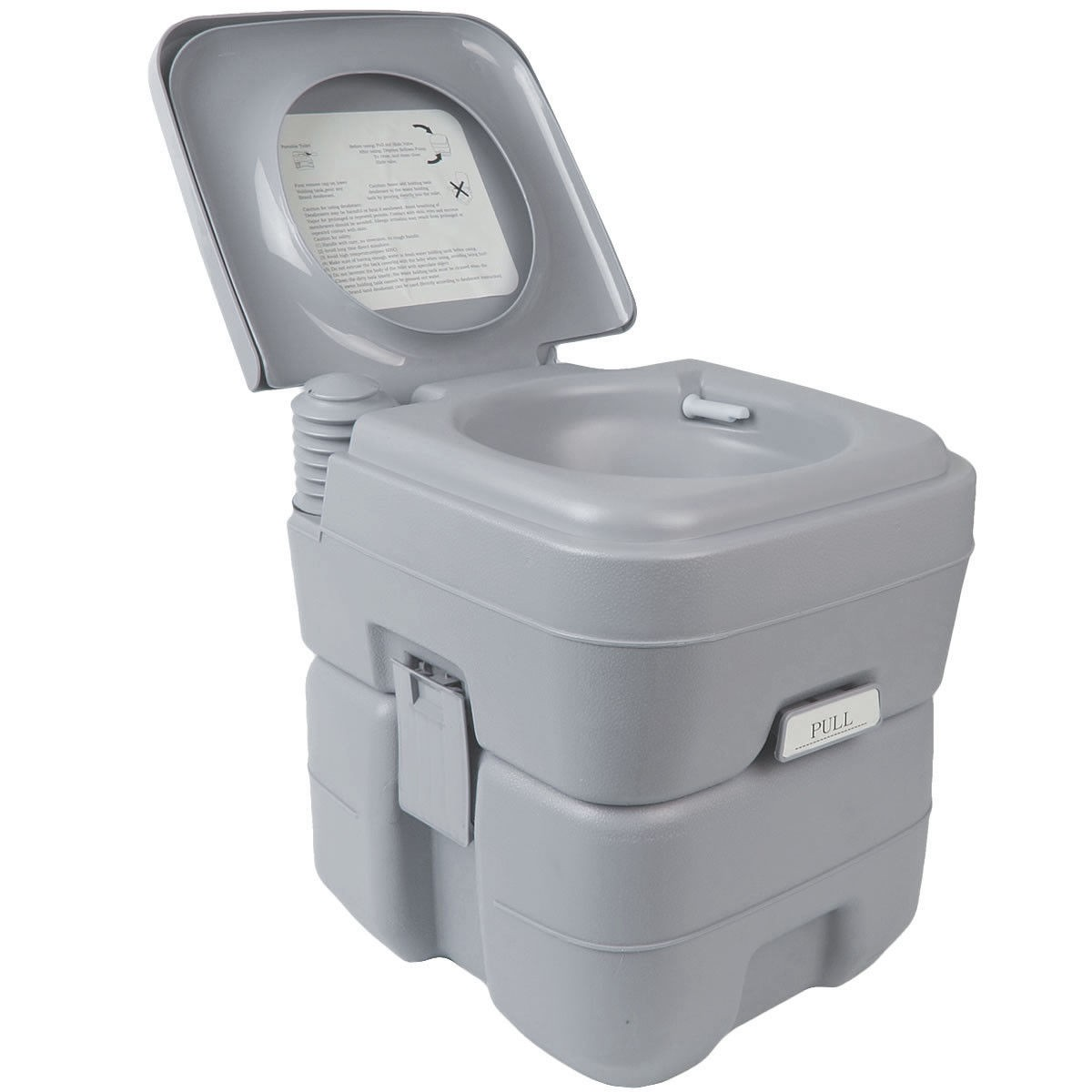 Outdoor 5 Gal Portable Outdoor Camping Recreation Toilet by Apontus