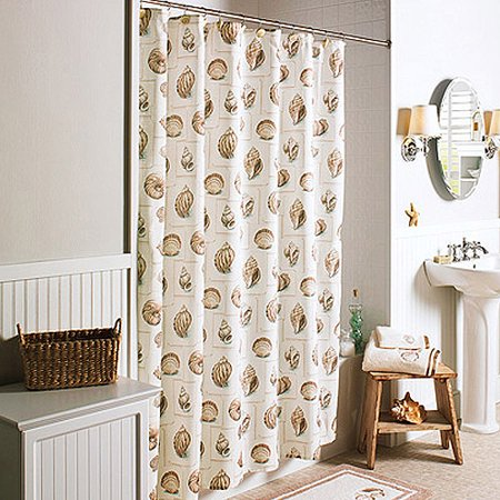 Better homes and gardens shells shower curtain Better homes and gardens shower curtains
