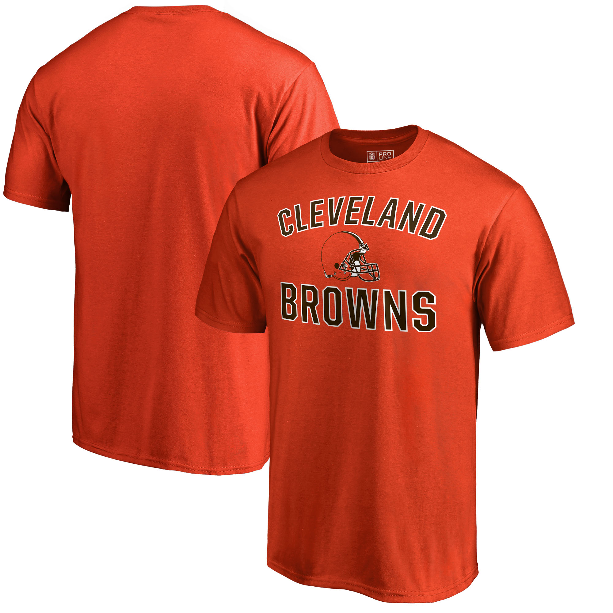 Cleveland Browns NFL Pro Line by Fanatics Branded Victory Arch T-Shirt - Orange