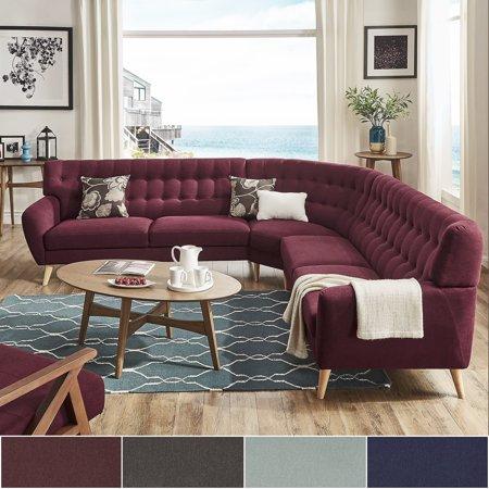 Mid century living niels danish modern tufted fabric 7 for Danish modern la