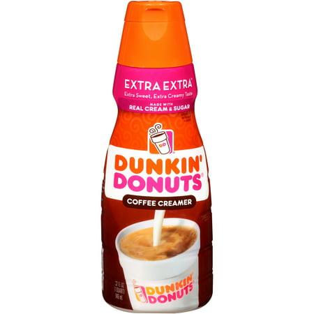 Dunkin Donuts, Coffee Creamer Extra Liquid Creamer, 32 Fl  Oz