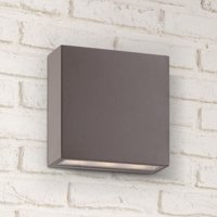 """Possini Euro Design Modern Outdoor Wall Light Fixture LED Bronze 5 1/2"""" Tempered Glass Lens Up Down for Exterior House Porch Patio"""
