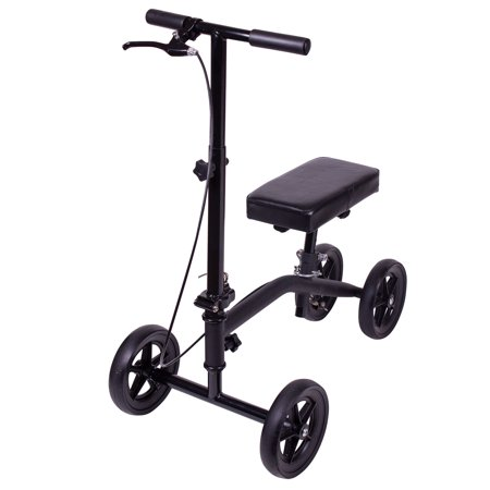 Carex Knee Scooter with Padded Knee Seat Knee Walker Crutches