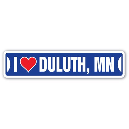I LOVE DULUTH, MINNESOTA Street Sign mn city state us wall road décor (Stores In Duluth Mn)