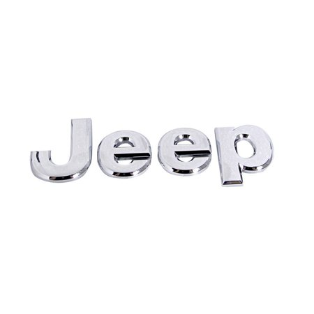 New Jeep Compass - Factory New Mopar Part # 5116491-AA Chrome Jeep Nameplate for Compass 2007-2017, Patriot 2007-2017, and Wrangler 2011-2016 Compass 2007-2017