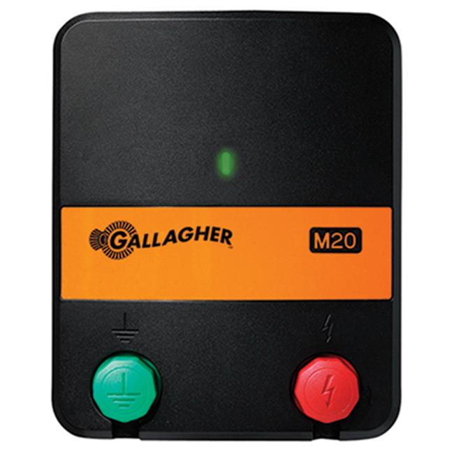 Gallagher North America G331414 Electric Fence Charger, M20, 0.2 Joules, 110-Volt
