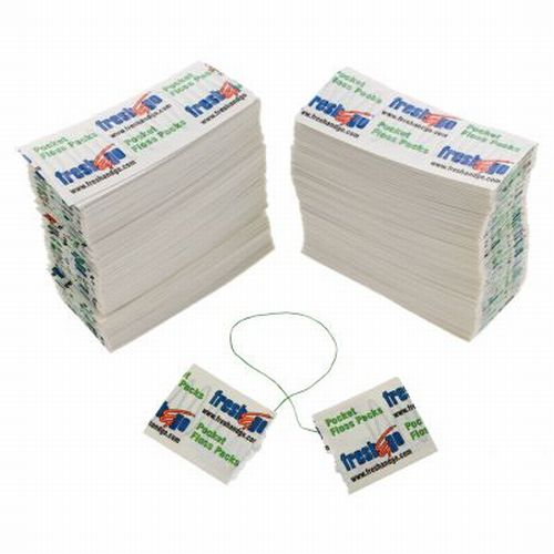 240 Bulk Pocket Dental Flossers Packs Individually Wrapped Travel Waxed Mint