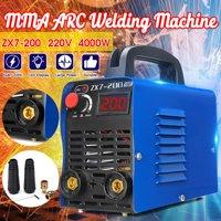 220V ZX7-200 Mini Portable MMA ARC Welder IGBT Welding Machine Inverter 4000W