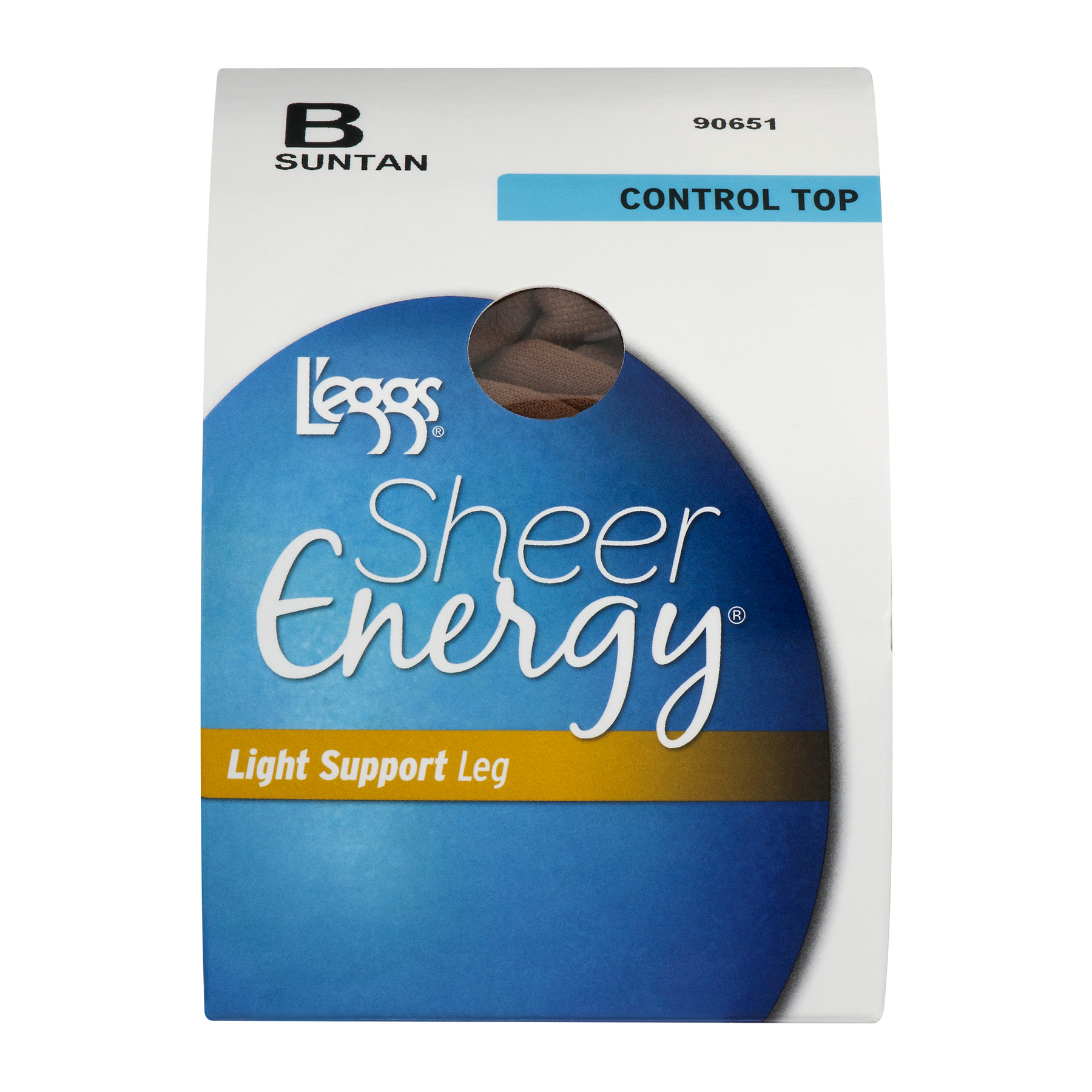 L'eggs Sheer Energy Light Support Leg Control Top B Suntan, 1.0 PACK