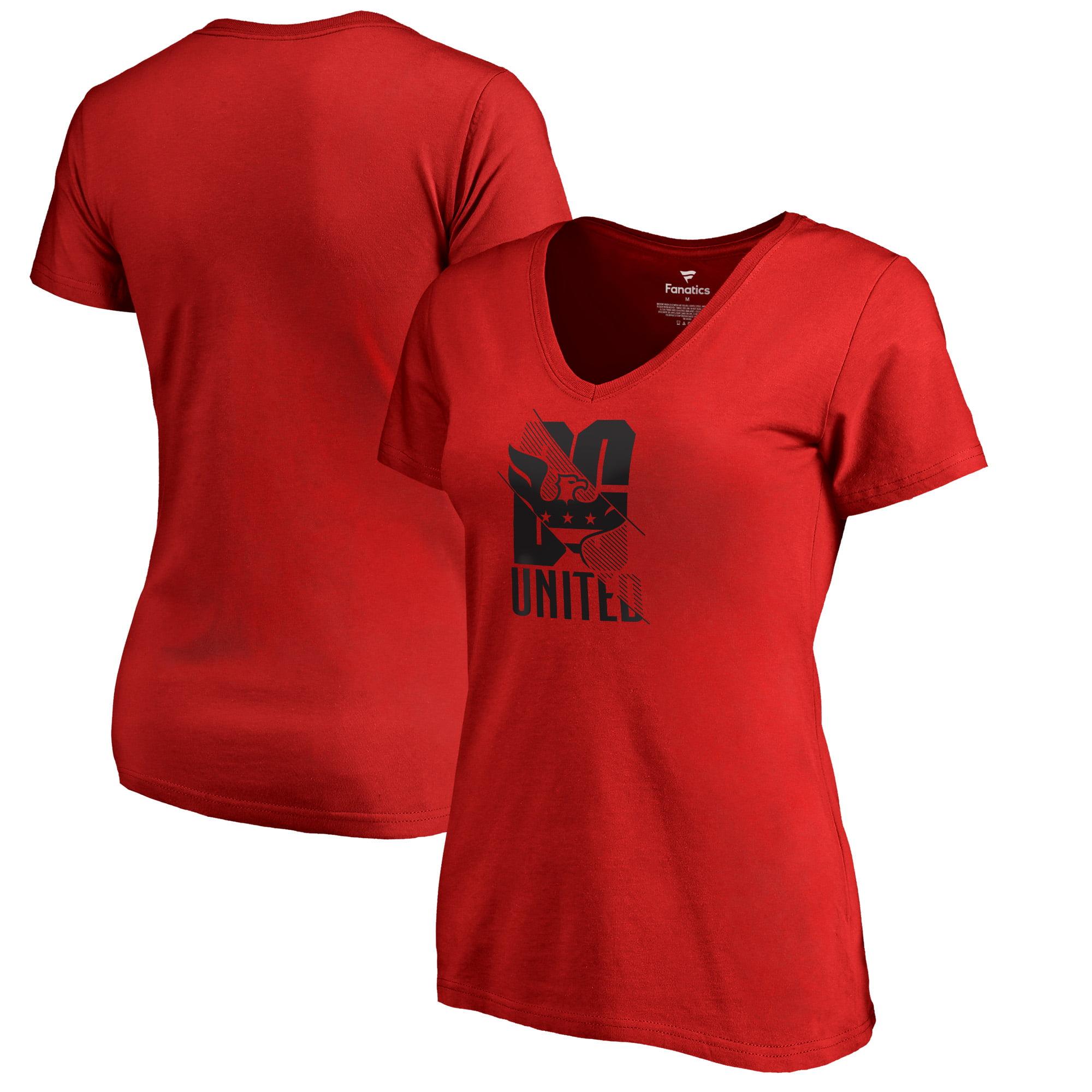 D.C. United Fanatics Branded Women's League Trend V-Neck T-Shirt - Red